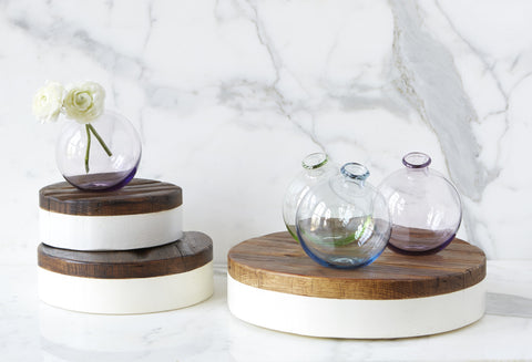 etuHOME sphere glass vases - spring colors