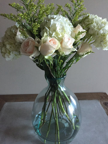 etuHOME Glass Vase Flower Arrangement