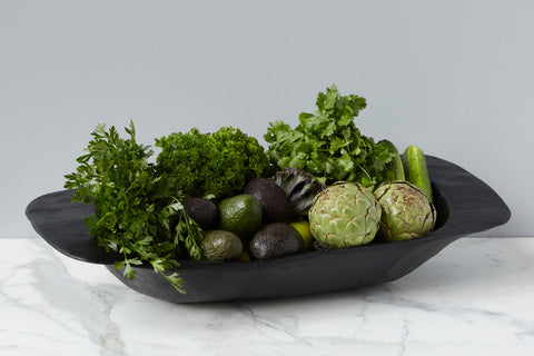 Vintage Black Dough Bowl, Large