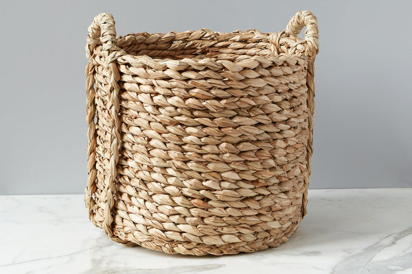 Rush Barrel Basket, Medium, 2 Handles