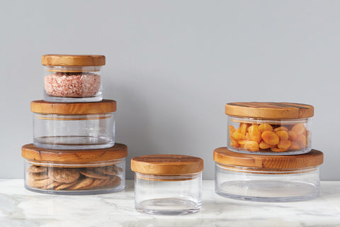 Natural Wood Top Canister, Large