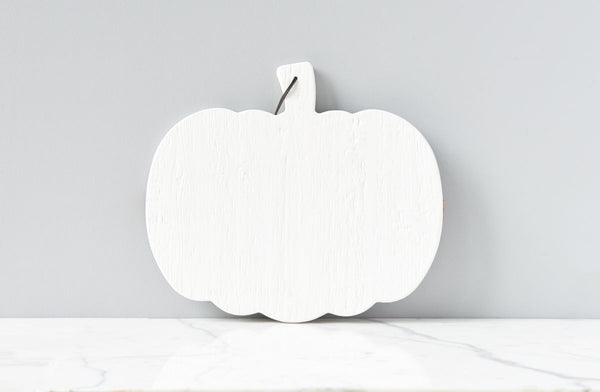 White Mod Pumpkin Charcuterie Board, Small