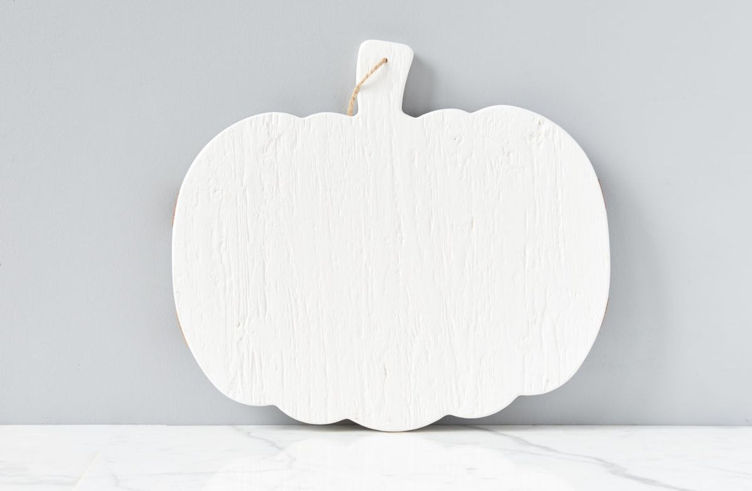 White Mod Pumpkin Charcuterie Board, Large