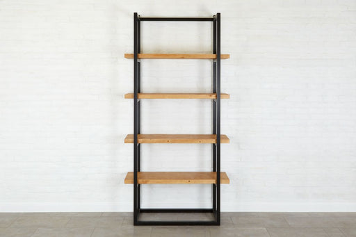 etuHOME Pantry Shelf Unit Raw Iron with Natural Shelves