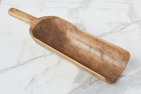 Found Wood Flour Scoop