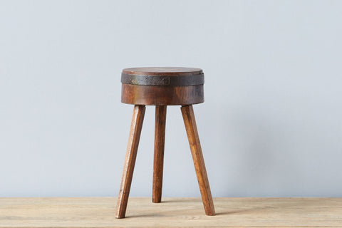 Found Chop Block Stool