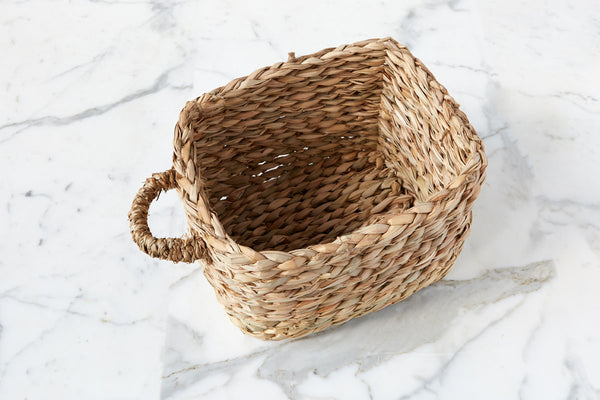 Rush Storage Basket, 1 Handle