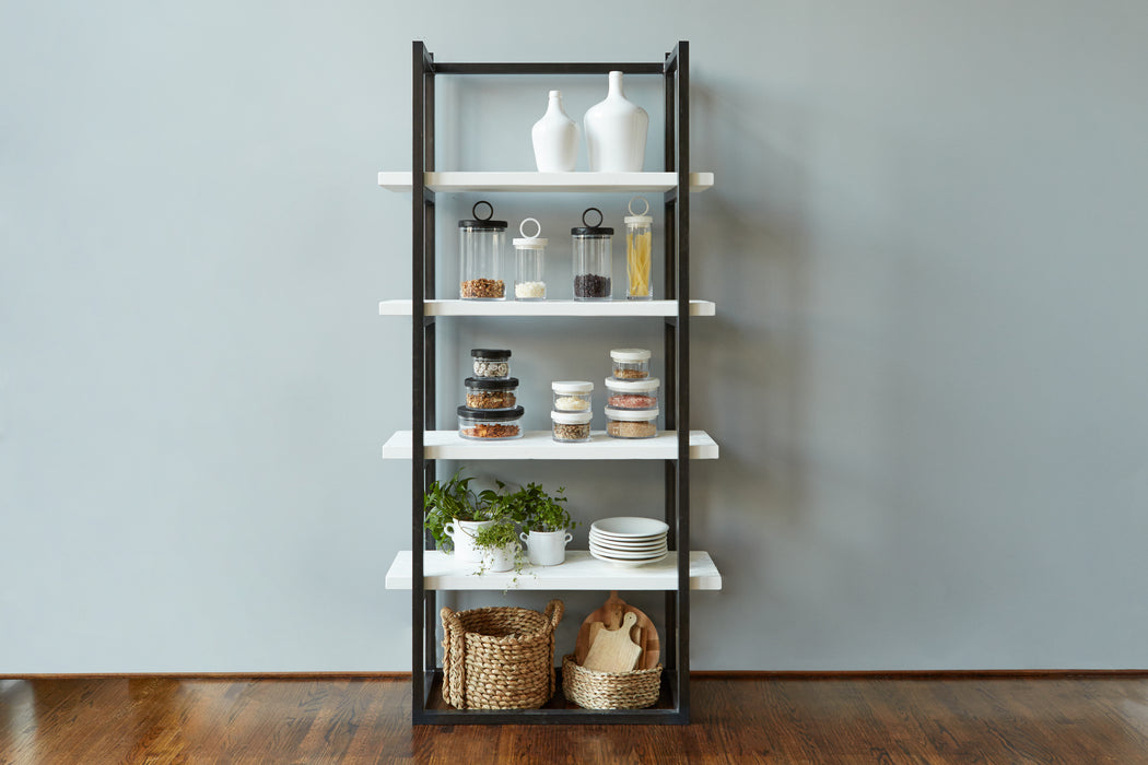 Black with White, Pantry Shelf Unit