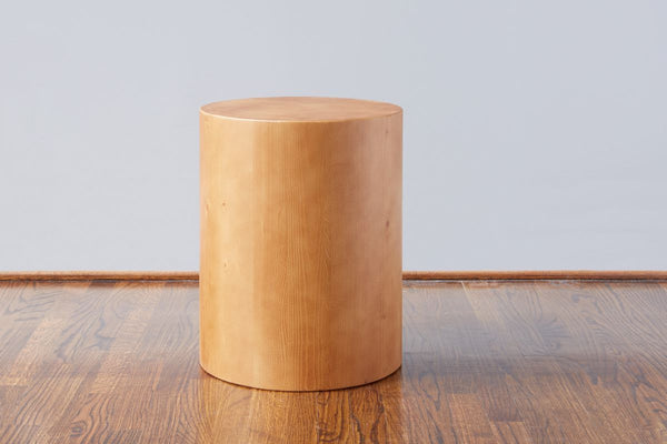 Mod Block Round Stool- Natural