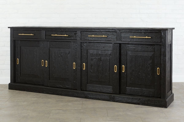 Parisian Sideboard, Wood Doors, Black