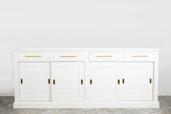 Parisian Sideboard, Wood Doors, White
