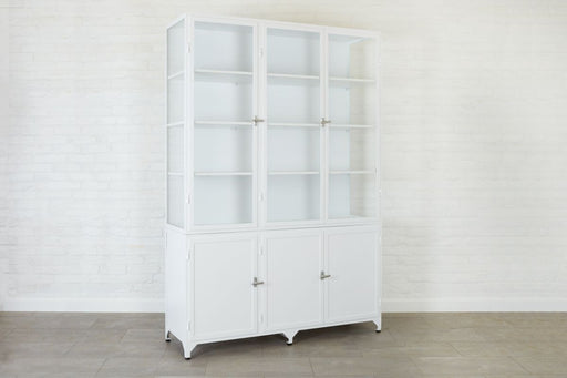 etuHOME White Three Door Vitrine