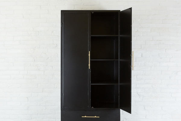 Black Kitchen Cabinet with Drawers