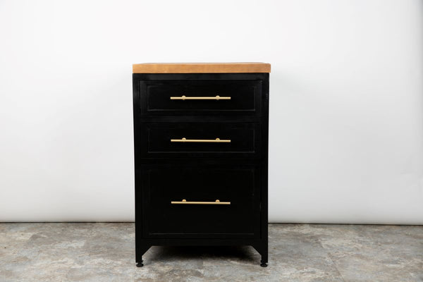 Black Kitchen Drawer Unit