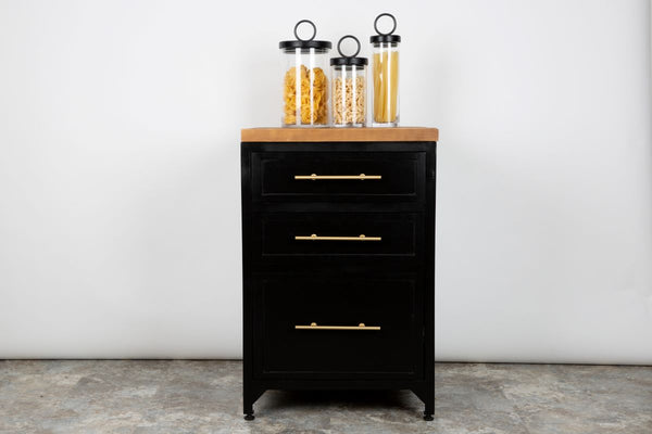 Black Three Drawer Unit