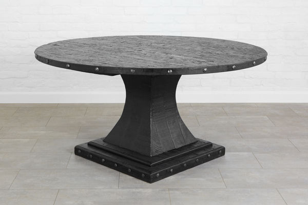 Camelot Pedestal Round Table, Black