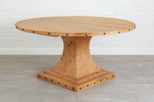 Camelot Pedestal Round Table Natural