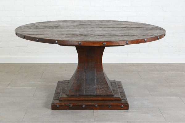 Camelot Pedestal Round Table, Saddle