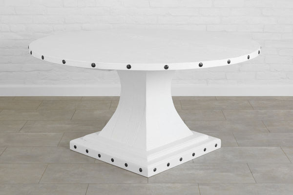 Camelot Pedestal Round Table, White