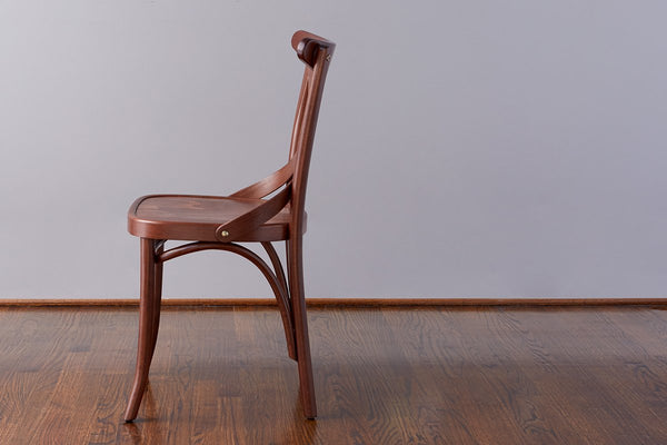 French X-Back Cafe Chair, Saddle