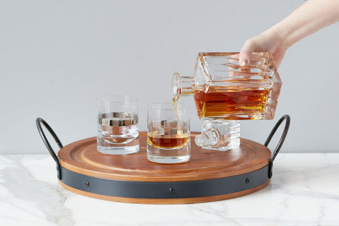 Platinum Whiskey Glass Set