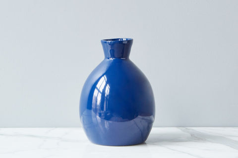 Navy Artisanal Vase, Small