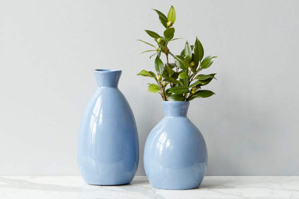 Denim Artisanal Vase, Medium
