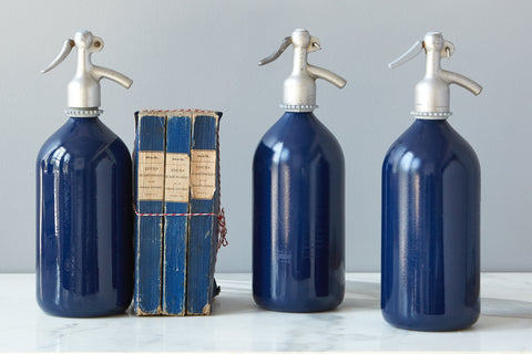 Navy Seltzer Bottle
