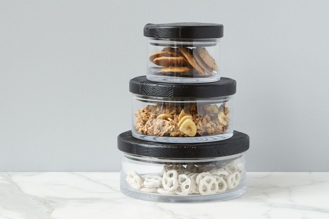 Barcelona Wood Top Canister, Medium