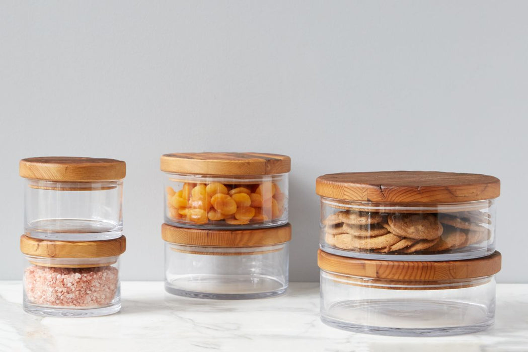 Classic Wood Top Canister, Medium
