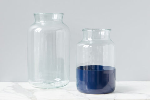 Navy Colorblock Mason Jar, Medium