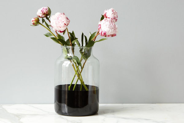Black Colorblock Mason Jar, Medium
