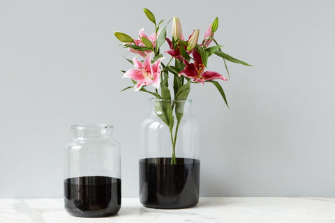 Black Colorblock Mason Jar, Large