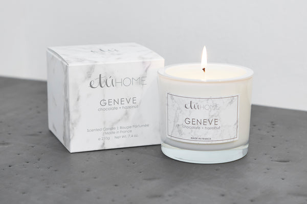 Small Candle, Geneva, Dark Chocolate+Hazelnut