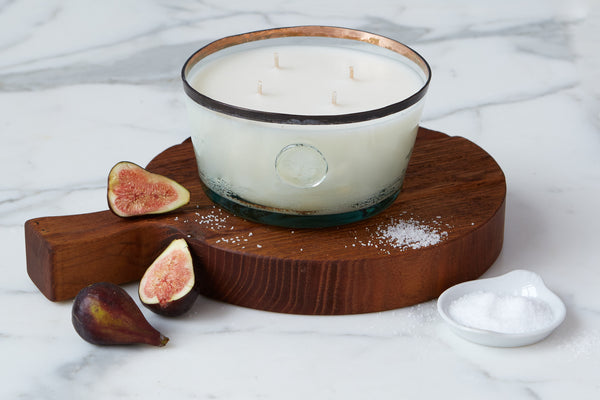 Large Candle, Porto Vecchio Fig Leaf and Sea Salt