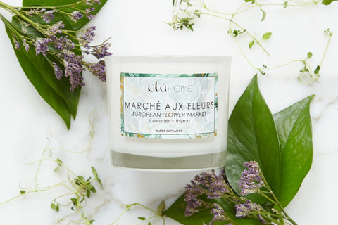 Small Candle, Euro Spring Market, Lavender + Thyme