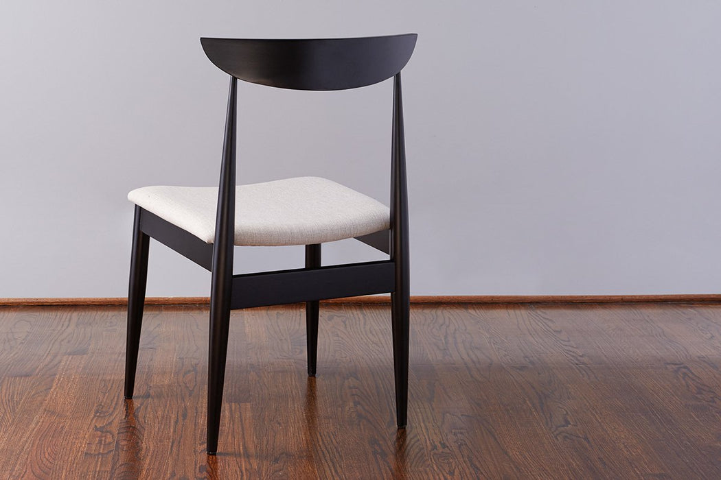 Lille Dining Chair, Black with Linen