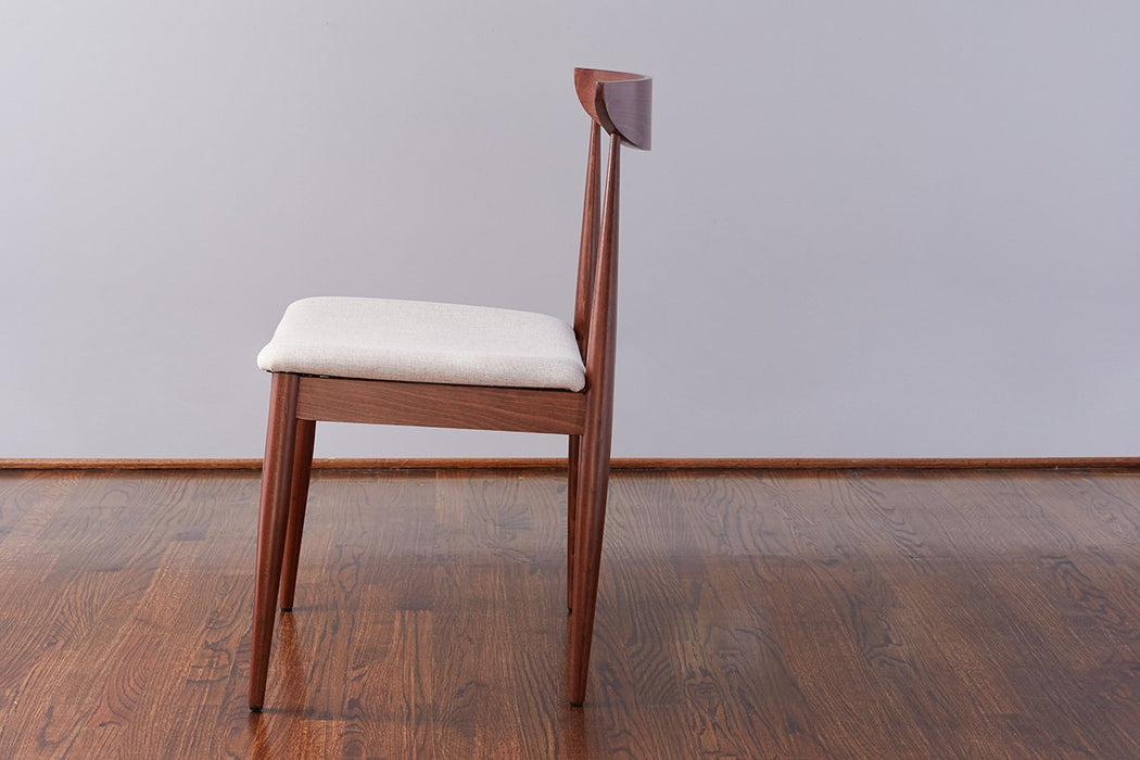 Lille Dining Chair, Saddle with Linen