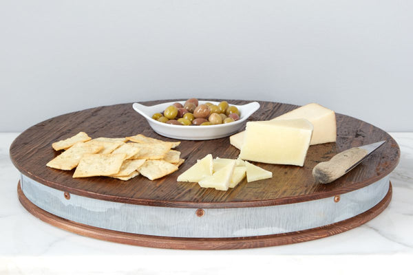 Bordeaux Wine Barrel Lazy Susan