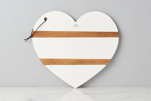 etuHOME White Mod Heart Charcuterie Board, Large 1