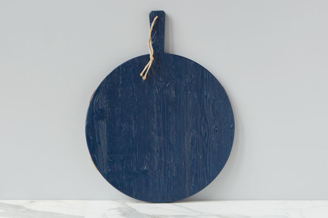 Navy Round Mod Charcuterie Board, Medium
