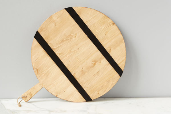 Black Round Mod Charcuterie Board, Large