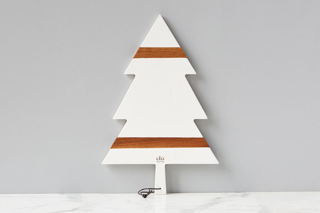 White Mod Tree Charcuterie Board, Large