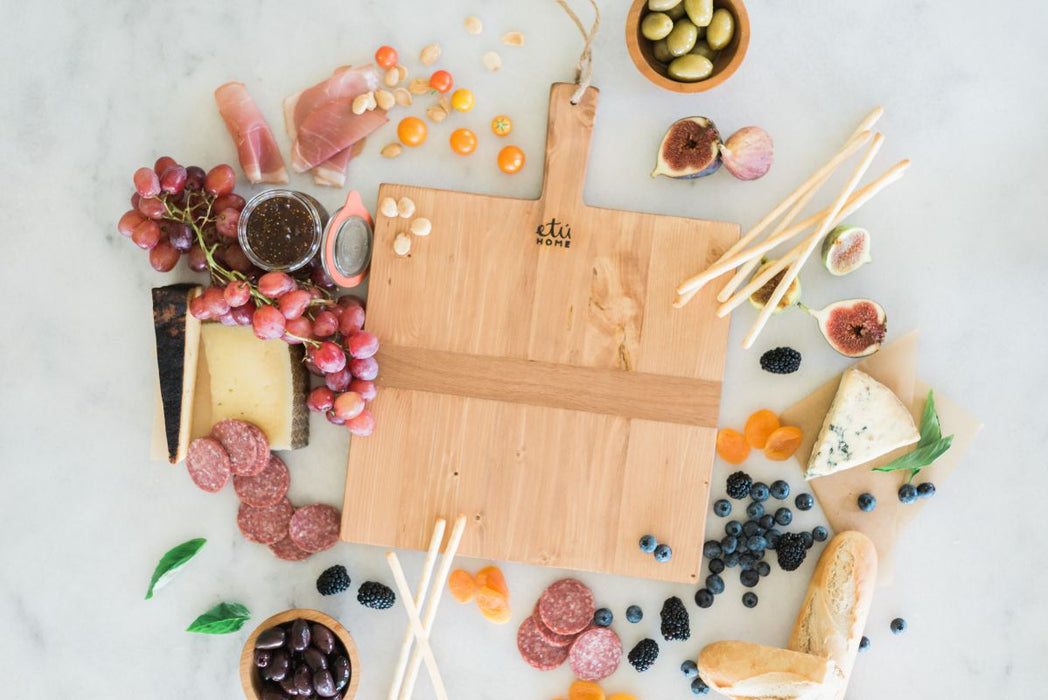 Square Pine Charcuterie Board, Small