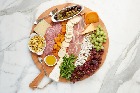 Large Beech Round Charcuterie Board