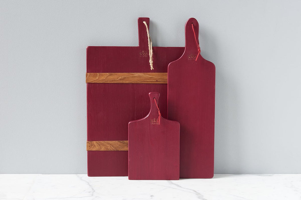 etúHOME Merlot Mini Charcuterie Board, Set of 3 -4