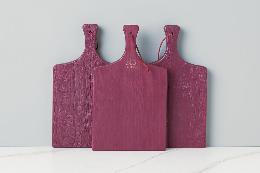 etúHOME Merlot Mini Charcuterie Board, Set of 3 -1