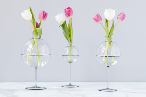 Smoke Wine Glass Vase