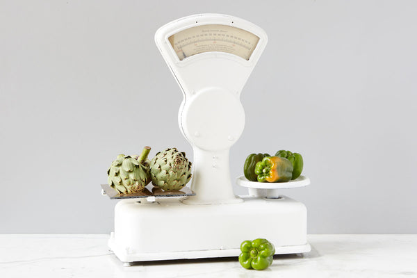 Found Farmers Market Scale, White