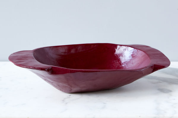 Vintage Merlot Dough Bowl, Small